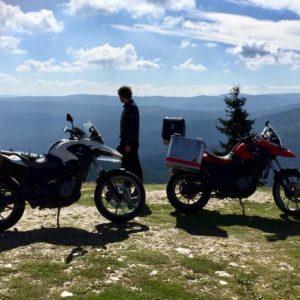 BMW motorbike hire romania transursoaia road