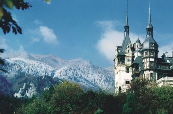 Peles Castle a royal residence visited in Transylvania Motorcycle tours