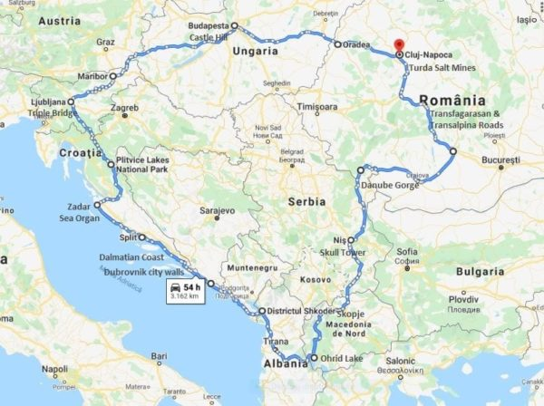 best of eastern europe motorcycle tour map