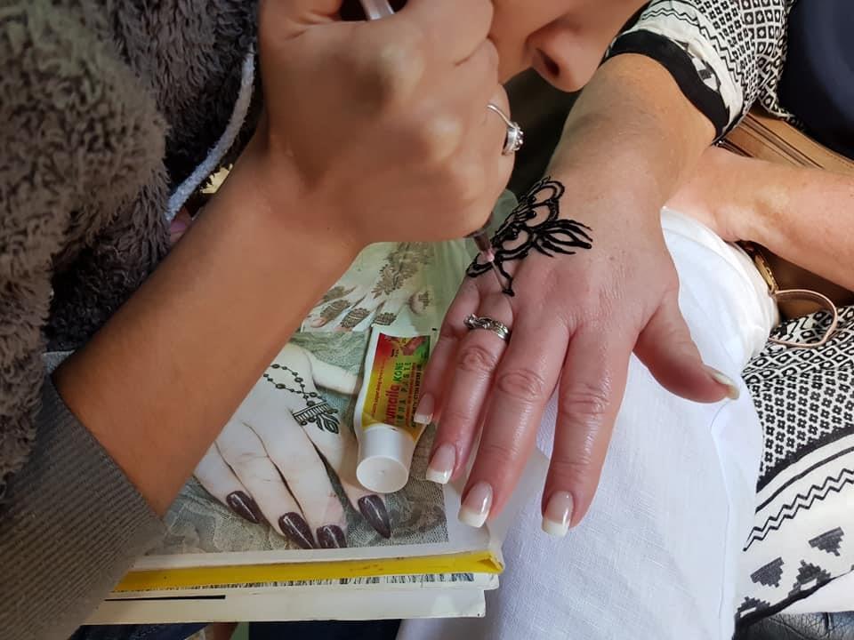 motorcycle travel morocco henna tattoo