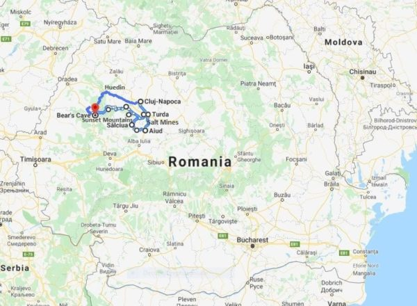 off road motorcycle tours romania map