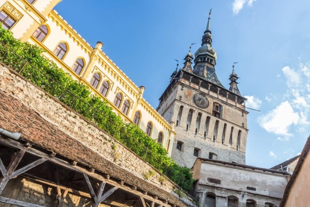 transylvania-motorcycle-tours-sighisoara-clock-tower