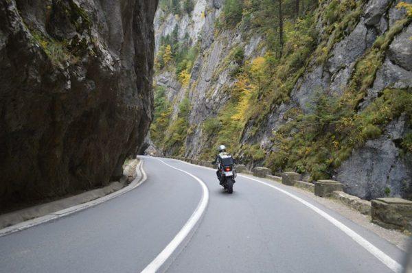 Motorcycle Touring Romania Bicaz Gorges