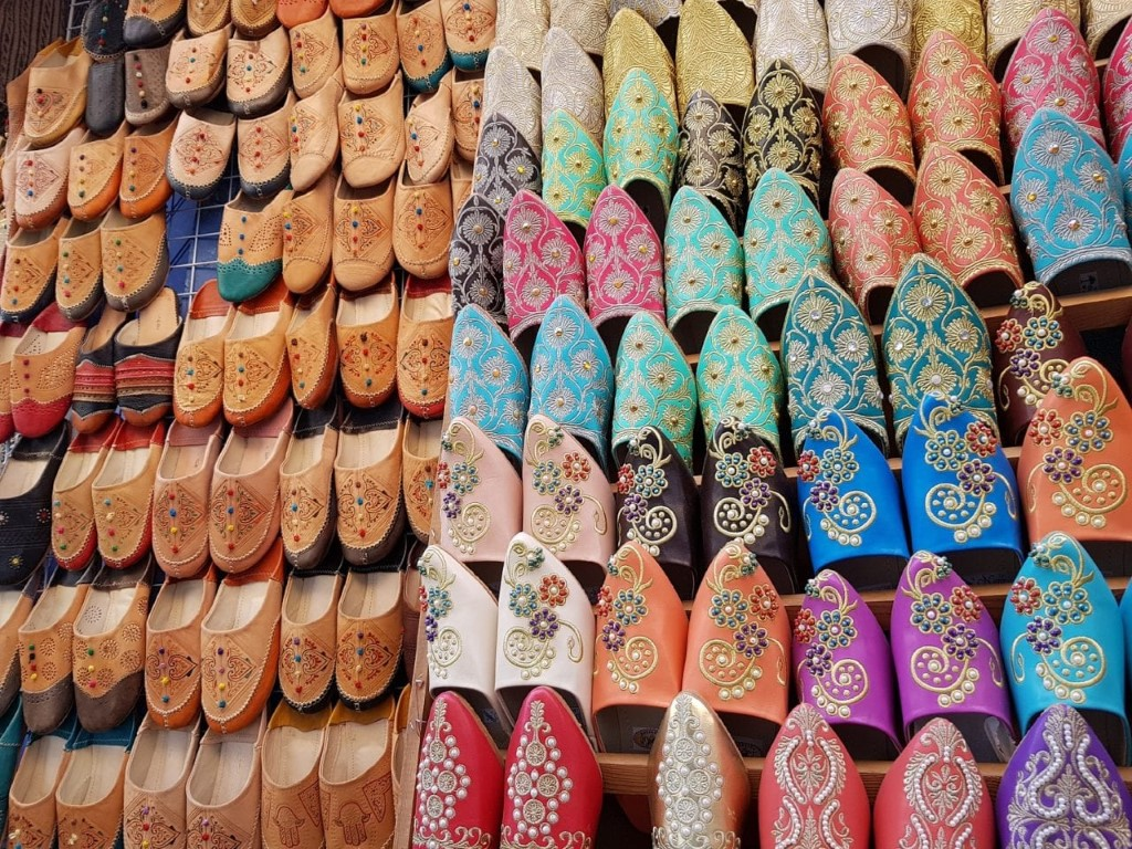 morocco motorcycle travel traditional slippers
