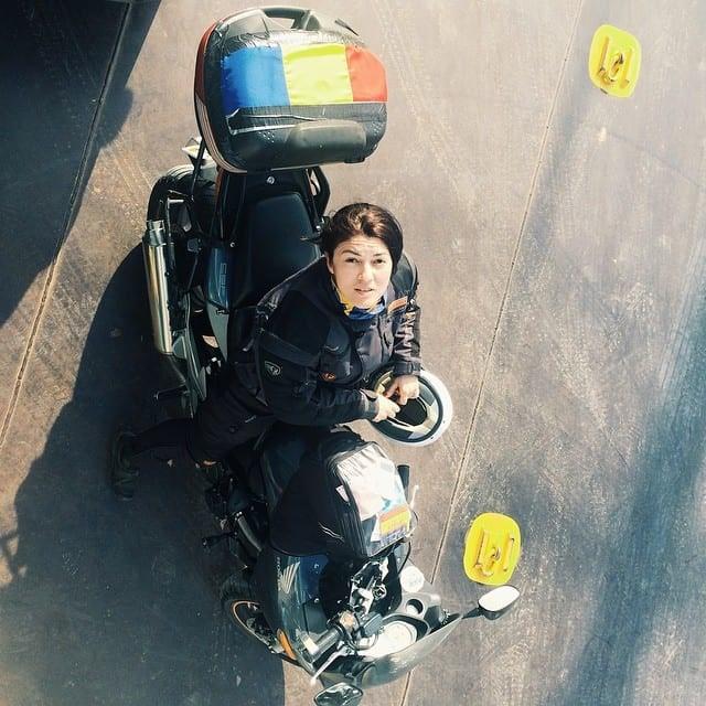 women motorcycle tour guides romania