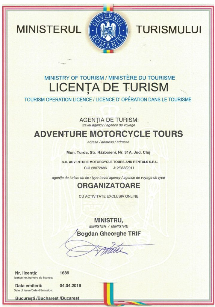 motorcycle tour operator license